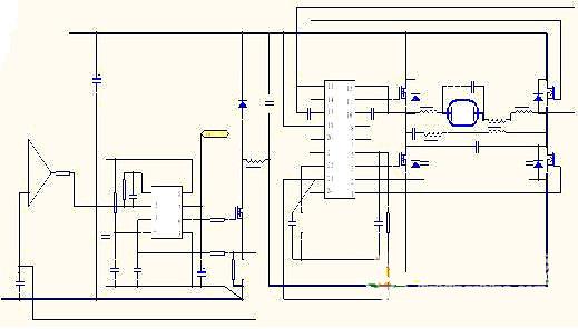 原理:   UC3843 为电源专用芯片各脚工作原理如下:   8 脚 REF 5V 基准电压   7 脚 VCC   6 脚 PWM 输出   5 脚 接地   4 脚 Rt.ct.振荡且信号输入   3 脚 内部运放输入   2 脚 补偿   1 脚 过流保护 1V 有效   建议:做中大功率时采用其它功率调节结构,做50%占空比(固定)通过PFM 式调节输出电流或者双管正激式,这样在做中大功率时效果会更好。   双管正激式在大功率电源以及电子逆变焊机领域有着较多成功应用。值得借鉴其调整方式安全