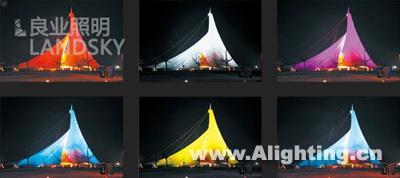 音乐之帆效果-青岛五四广场与音乐广场照明设计 组图