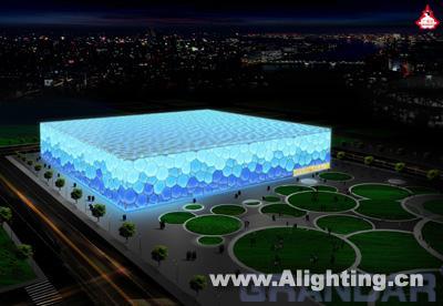奥运游泳馆水立方艺术灯光设计(组图)