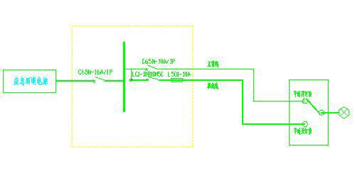 切非继电器接线图