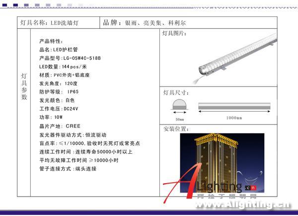 广州亮美集洗墙灯接线图