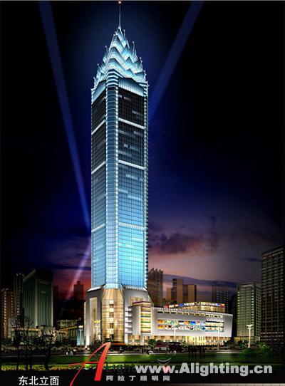 温州世贸中心大厦夜景照明设计(组图)