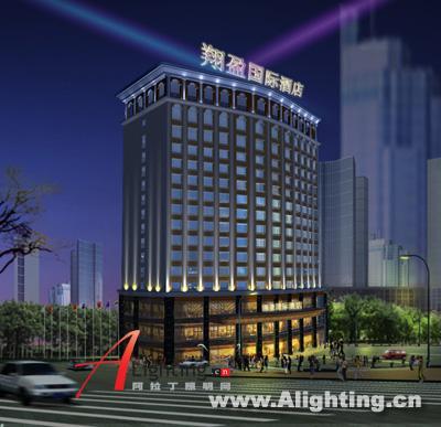 东莞翔盈国际酒店外立面照明设计(组图)