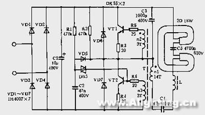 并联反向二极管电路图;