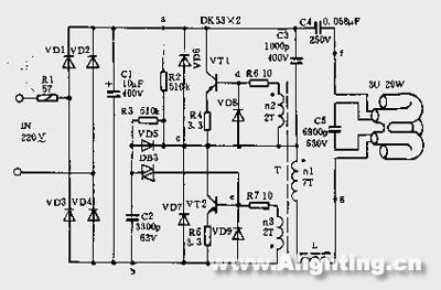 再细探荧光灯电子镇流器工作原理--lyuhu的笔记