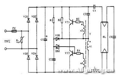 不加并联反向二极管电路图