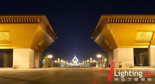 陕西法门寺合十舍利塔夜景照明设计详解