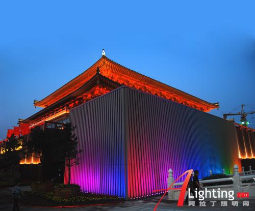 西安贞观文化广场夜景照明设计