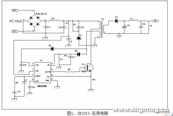 图1是se3910基本的应用电路