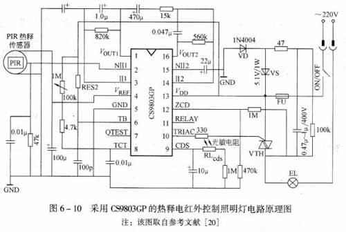 pir传感器输出的信号经cs9803gp内部放大