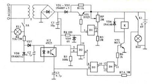 自动充电,有记忆功能的应急照明灯(图)